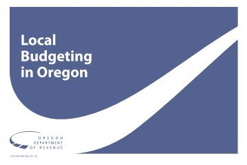 DOR Local Budgeting in Oregon - State of Oregon