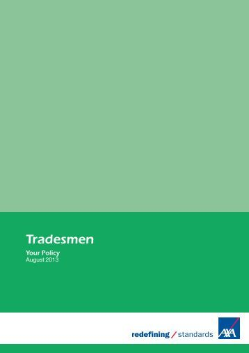 Tradesmen policy document (PDF)