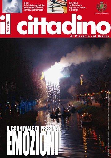 CittadinoAprile2010 (pdf) - Comune di Piazzola sul Brenta