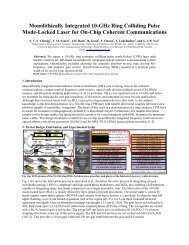 Monolithically Integrated 10-GHz Ring Colliding Pulse Mode - Next ...