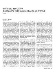Mehr als 150 Jahre: Elektrische Telekommunikation in Krefeld
