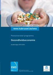 Gezondheidseconomie - HUBRUSSEL.net