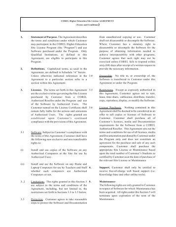 Higher Education Site License - Corel Corporation