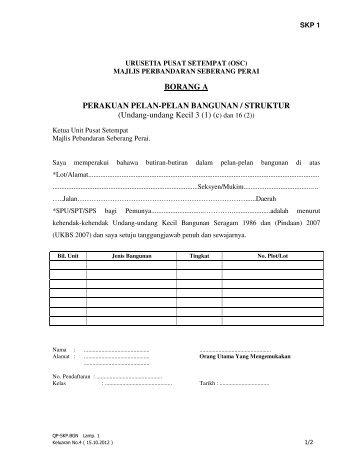 Perakuan Pelan-pelan Bangunan / Struktur - Majlis Perbandaran ...