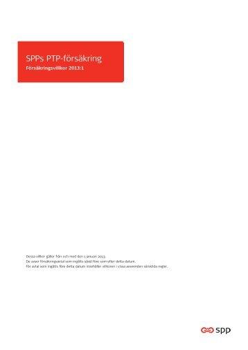 Försäkringsvillkor PTP - SPP526