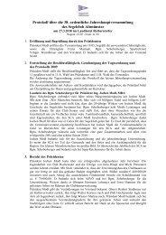 Protokoll über die 38. ordentliche Jahreshauptversammlung des - SCA