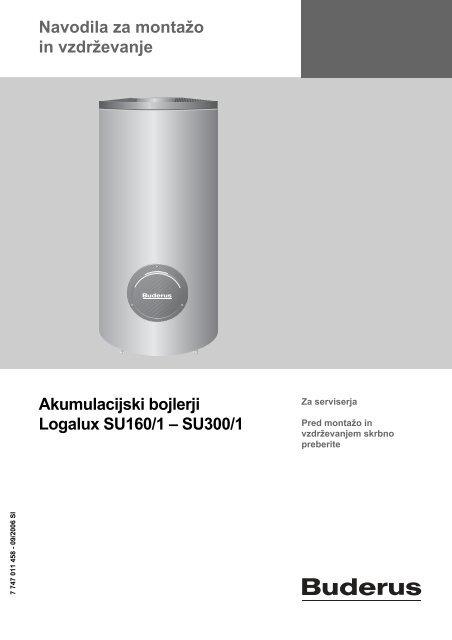 Navodila Logalux SU 160-300l - Buderus