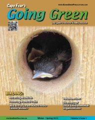 the current issue - Going Green