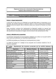 Règlement Intérieur de la Commission Départementale des