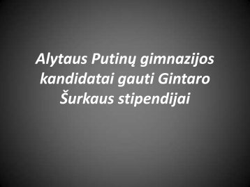 Skaitykite - Alytaus Putinų gimnazija