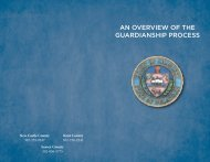 an overview of the guardianship process - Delaware State Courts