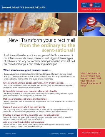 Canada Post – Scented Admail & Scented AdCard