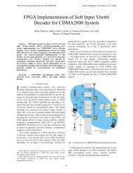 FPGA Implementation of Soft Input Viterbi Decoder for ... - Telfor 2008