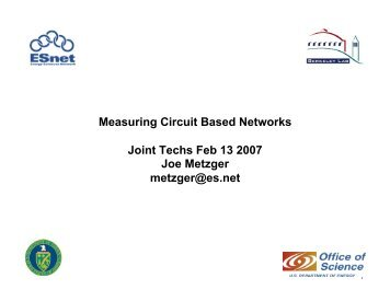 Measuring Circuit Based Networks Joint Techs Feb 13 2007 ... - ESnet
