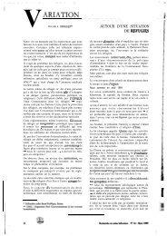 VARIATION - Banque de données en santé publique