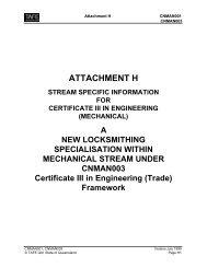 CNMAN003 Certificate III in Engineering (Locksmithing) - Training ...