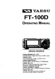 Yaesu FT-100D Operating Manual - n7tgb