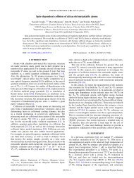 Spin-dependent collision of ultracold metastable atoms - American ...