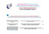 LIST OF RECEIVED ABSTRACTS LISTE DE RÉSUMÉS REÇUS 1