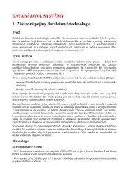 DATABÁZOVÉ SYSTÉMY 1. Základní pojmy databázové ... - eAMOS