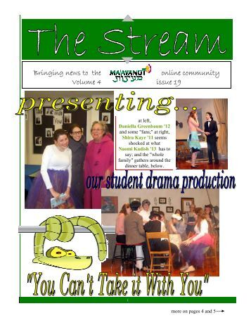 Issue 19.pub - Ma'ayanot Yeshiva High School for Girls
