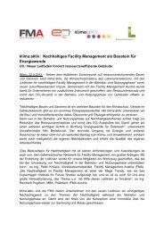 klima:aktiv: Nachhaltiges Facility Management als Baustein für ...