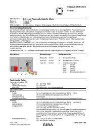 instabus EIB System Sensor Universal-Tasterschnittstelle ... - Eibmarkt