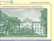 Vortrag Prof. Dr. Konrad Miegel - Universität Rostock