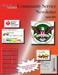 April 2012 Community Service Newsletter - Nazareth College