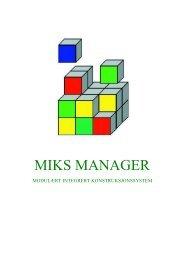 MIKS MANAGER - Statens vegvesen