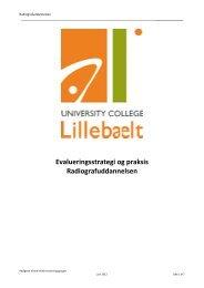 Evalueringsstrategi - University College Lillebælt