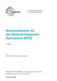 Wirtschaftslehre für das Biotechnologische Gymnasium (BTG)