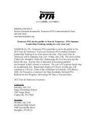 Scottie Goodman Summerlin, Tennessee PTA Communications ...