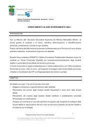 Relazione orientamento alunni diversamente abili - Provincia di Lecco