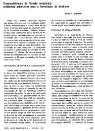 Desenvolvimento da floresta amazomca - Philip M. Fearnside - Inpa