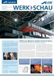 Stahl aus Bayern weiter hoch im Kurs - LSW Lech Stahlwerke GmbH
