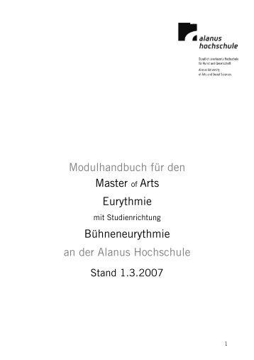 MHB MA B-374hneneurythmie - Alanus Hochschule