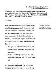 Rede des Bayerischen Ministerpräsidenten Dr - Bayerisches ...
