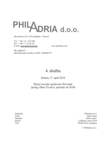 Katalog - PhilAdria doo