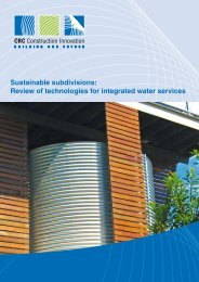Sustainable subdivisions - Construction Innovation