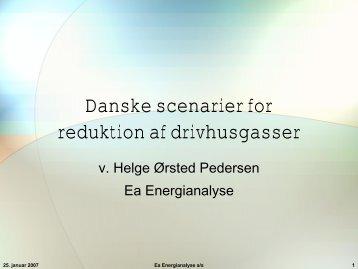 Danske scenarier for reduktion af drivhusgasser - Ea Energianalyse