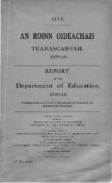 1939-1940 - Department of Education and Skills