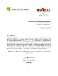 L'action syndicale internationale et son ambivalence face à la ... - UQO