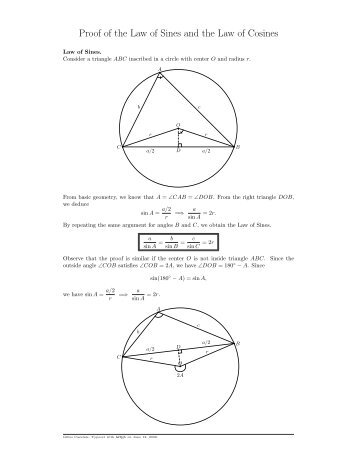 Law Of Sines And Cosines Worksheet 1