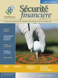 juin 2006 - Vol. 31 - No 3 - Chambre de la sécurité financière