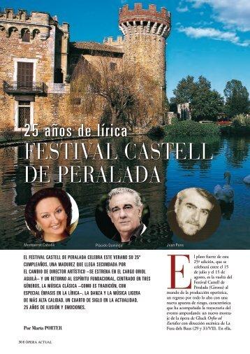 FEsTivAL CAsTELL DE PErALADA - Revistas Culturales