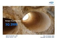 3Q 2009 - BXPL