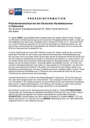 PRESSEINFORMATION Präsidentenwechsel bei der Deutschen ...