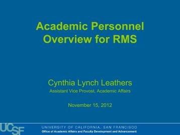 Presentation - Academic Affairs