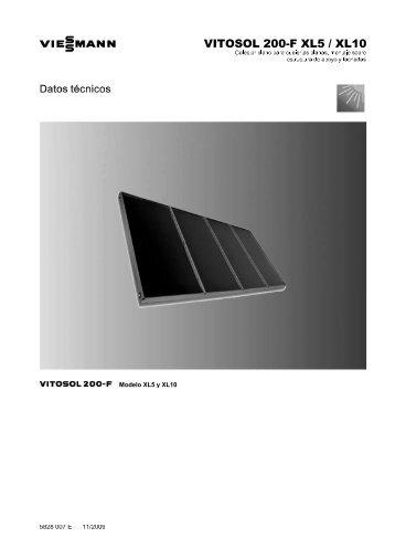 Datos técnicos Vitosol 200-F XLS XL10768 KB - Viessmann